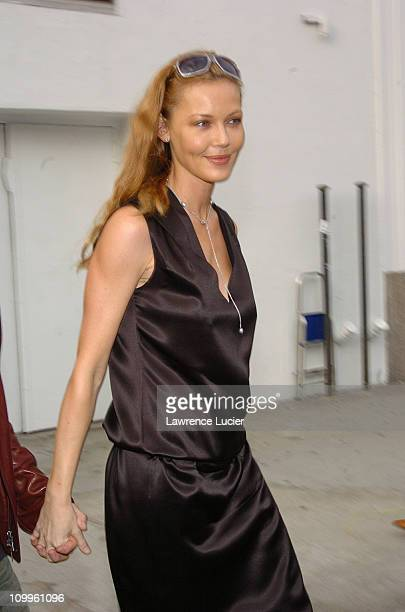 Connie Nielsen during Olympus Fashion Week 2004 - Calvin Klein - Arrivals at Milk Studios in New York City, New York, United States.