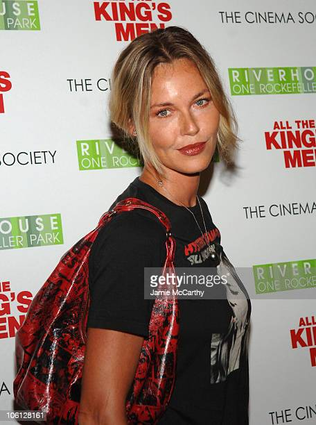 Connie Nielsen during The Cinema Society Screening of All the King's Men Arrivals at Regal Cinema Battery Park in New York City New York United States