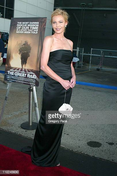 """Connie Nielsen during """"The Great Raid"""" New York City Premiere - Arrivals at The Intrepid Sea, Air and Space Museum in New York City, New York, United..."""
