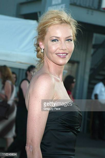 Connie Nielsen during The Great Raid New York City Premiere Arrivals at The Intrepid Sea Air and Space Museum in New York City New York United States
