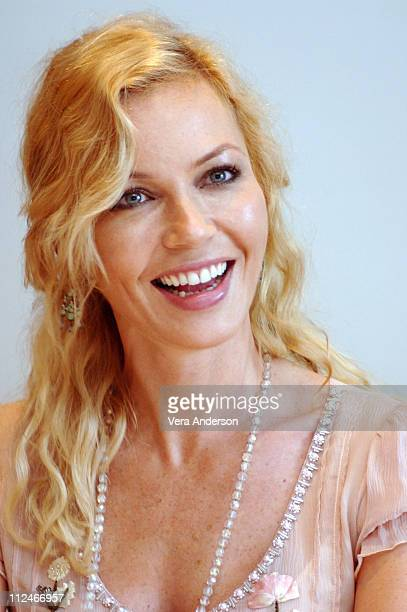 """Connie Nielsen during """"The Great Raid"""" Press Conference with Connie Dielsen, Joseph Fiennes, John Dahl and Marty Katz at Four Seasons Hotel in..."""