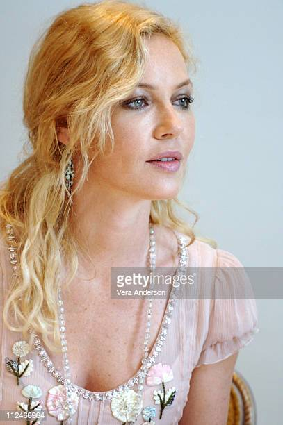 Connie Nielsen during The Great Raid Press Conference with Connie Dielsen Joseph Fiennes John Dahl and Marty Katz at Four Seasons Hotel in Beverly...