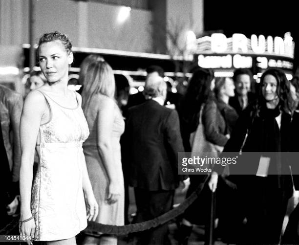 Connie Nielsen during The Hunted Premiere BW Photography by Chris Weeks at Mann Village Theatre in Westwood California United States