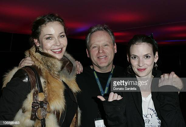 Connie Nielsen, Finn Tylor and Winona Ryder *EXCLUSIVE*