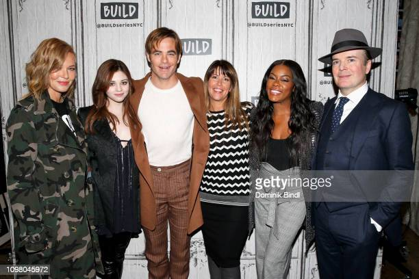 Connie Nielsen India Eisley Chris Pine Patty Jenkins Golden Brooks and Jefferson Mays attend the Build Series to discuss the TNT drama 'I Am the...