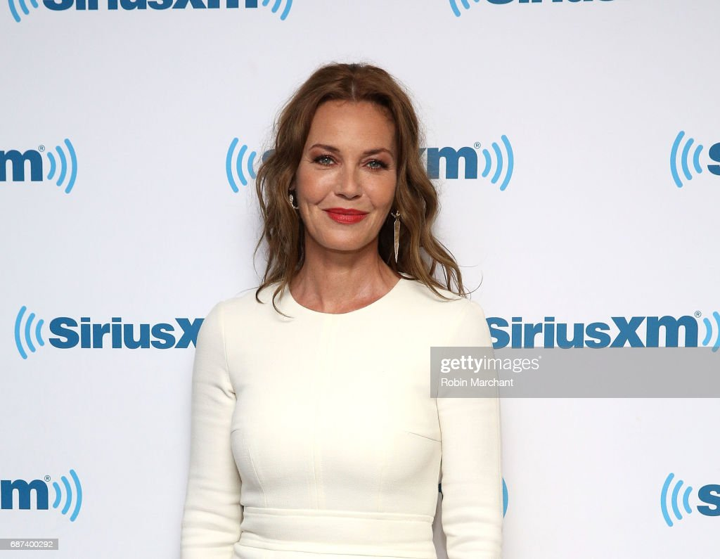 Connie Nielsen visits at SiriusXM Studios on May 23, 2017 in New York City.