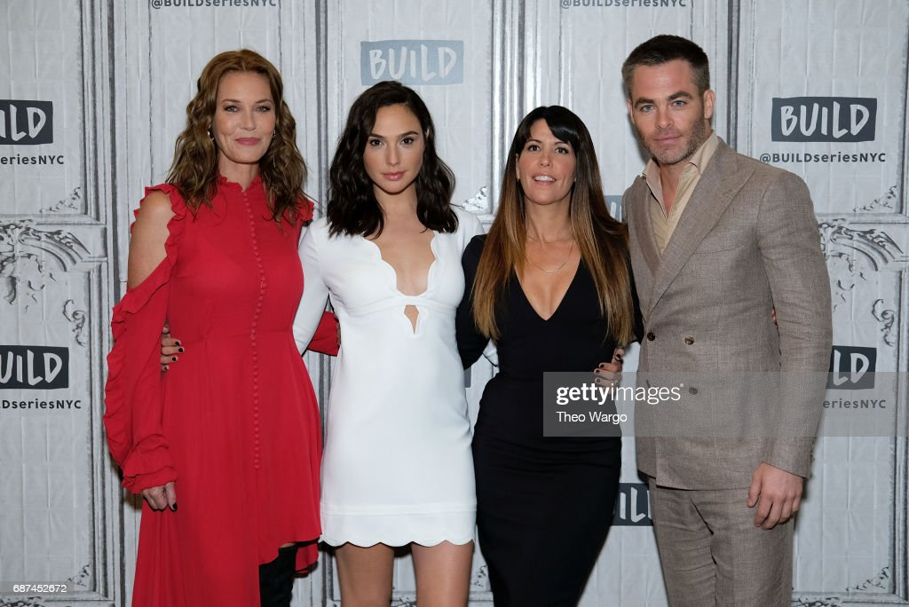 Connie Nielson, Gal Gadot, Patty Jenkins and Chris Pine attend Build Presents The Cast Of 'Wonder Woman' at Build Studio on May 23, 2017 in New York City.