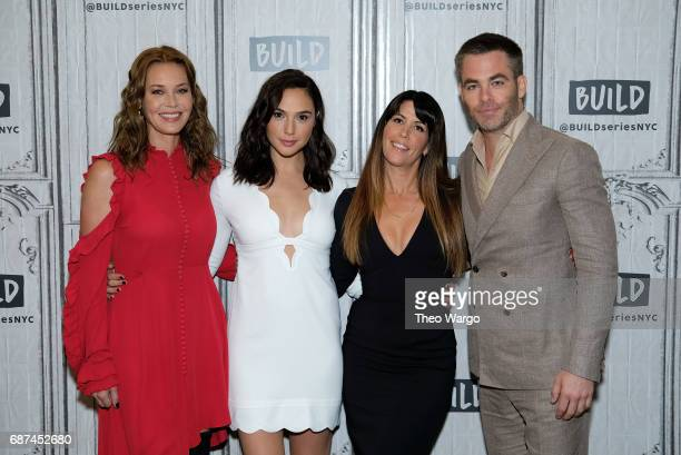 Connie Nielson Gal Gadot Patty Jenkins and Chris Pine attend Build Presents The Cast Of 'Wonder Woman' at Build Studio on May 23 2017 in New York City