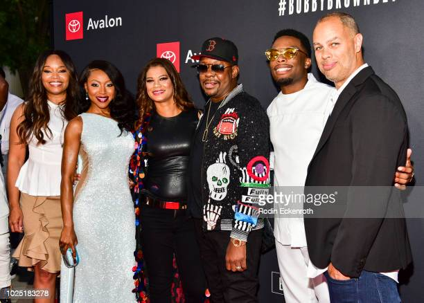 Connie Orlando Gabrielle Dennis Alicia Etheredge Bobby Brown Woody McClain and Jesse Collins arrive at the premiere screening of 'The Bobby Brown...