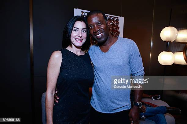 Connie Parraga and Kirk Ivy at the Angelo Bonati Celebrates SHoP Architects the Winner of the 2016 Panerai Design Miami Visionary Award on November...