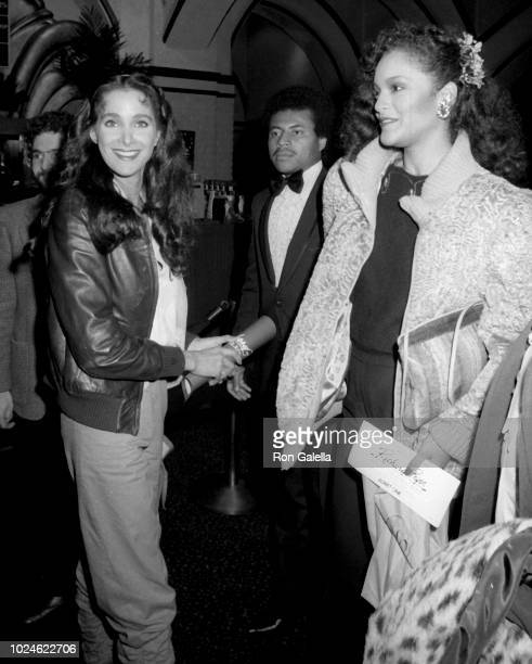Connie Sellecca and Jayne Kennedy attend Richard Pryor Live on the Sunset Strip Premiere on March 11 1982 in Westwood California