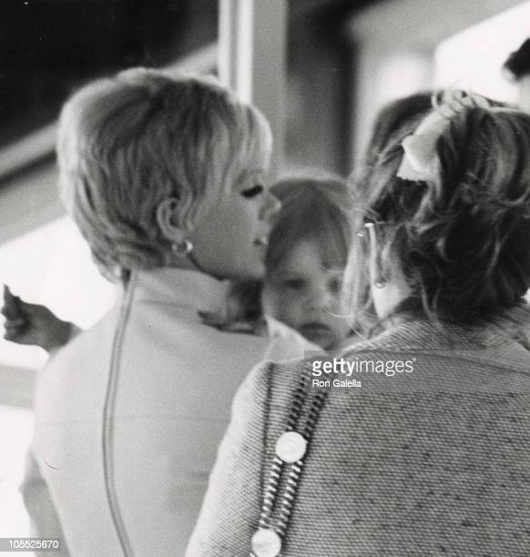 Connie Stevens and daughter Joely Fisher during Connie Stevens and Joeley Fisher sighted at Heuthrow Airport September 1 1969 at Heuthrow Airport in...