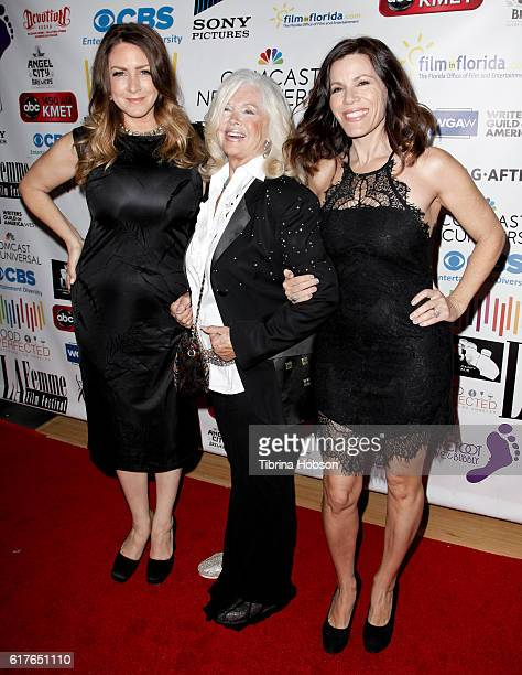 Connie Stevens and her daughters Joely Fisher and Tricia Leigh Fisher attend the 12th annual La Femme International Film Festival closing ceremony at...