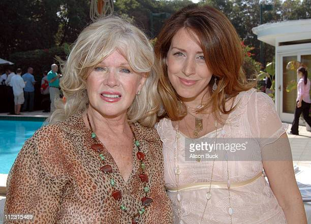 Connie Stevens and Joely Fisher during GLASS Flowers Food and Art Garden Party October 2 2005 at Private Residence in Los Angeles California United...