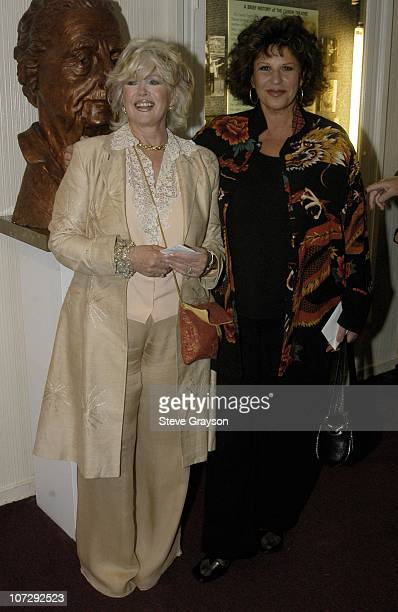 Connie Stevens and Lainie Kazan during Renee Taylor's OneWoman Stage Portrait An Evening With Golda Meir Premiere Engagement at The Canon Theater in...