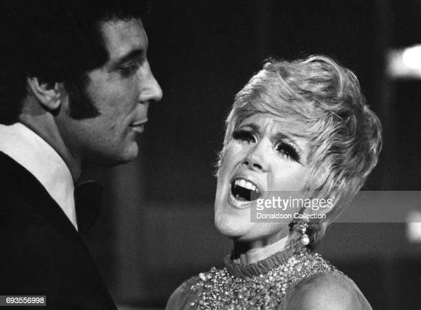 Connie Stevens and Tom Jones perform on This Is Tom Jones TV show in circa 1970 in Los Angeles California