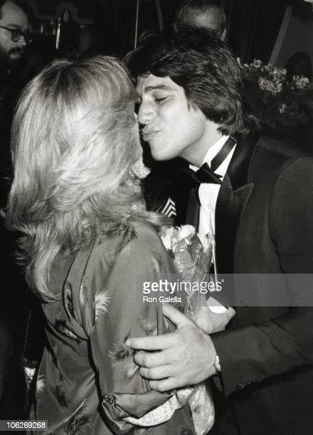 Connie Stevens and Tony Danza during La Cage Aux Folles Opening Night April 8 1981 at La Cage Aux Folles in Los Angeles California United States