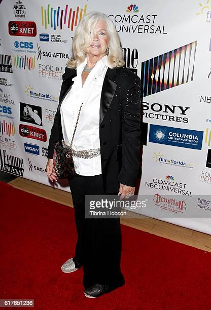 Connie Stevens attends the 12th annual La Femme International Film Festival closing ceremony at The Los Angeles Theatre Center on October 23 2016 in...