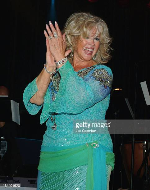 Connie Stevens during Connie Stevens Birthday Celebration with The Thunder From Down Under at The Showroom at the Suncoast Hotel in Las Vegas Nevada...