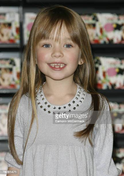 Connie Talbot from Britains got Talent' visits HMV Oxford Street on November 26 2007 in London England