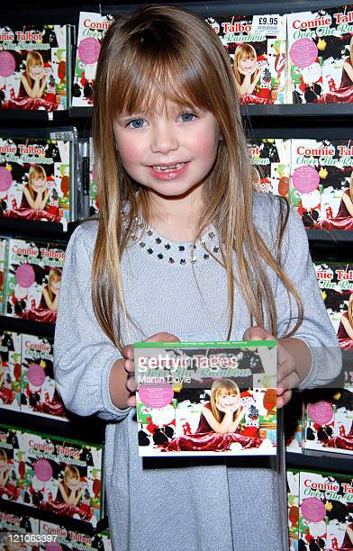 Connie Talbot of 'Britain's Got Talent' visits HMV Oxford Street to promote her new single 'Over the Rainbow'/'White Christmas' on November 26 2007...