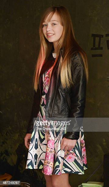 Connie Talbot poses for photographs before her concert 'Connie and Friends Happy Concert in Seoul' press conference at Jongnogu on April 22 2014 in...