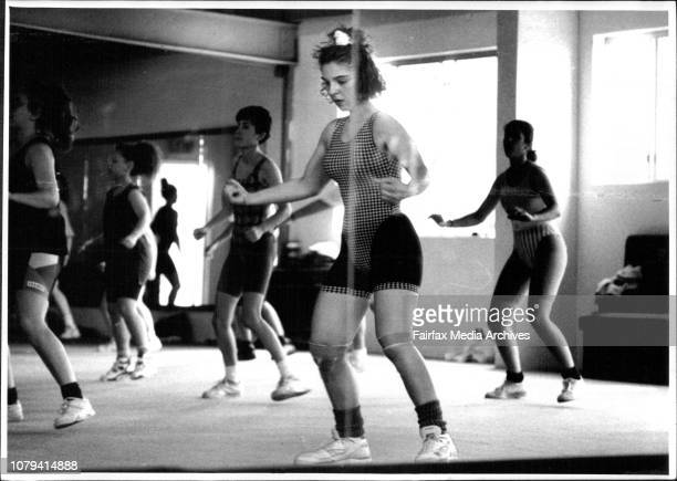 Connie Venezia in Aerobics Class at Five Dock Sports Centre January 1 1993