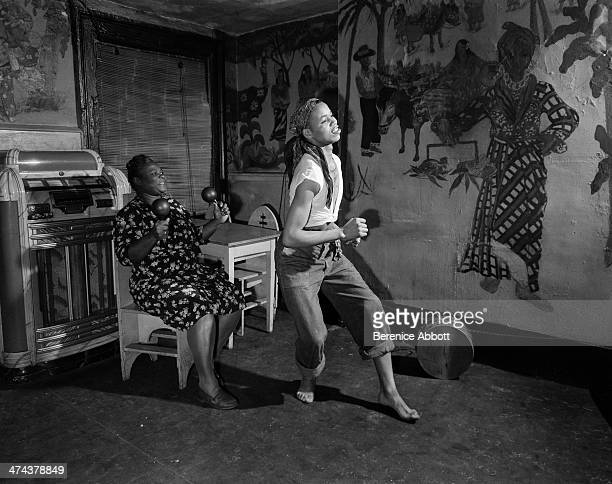 Connie Williams and dancer at The Calypso MacDougal Greenwich Village New York City New York circa 1945