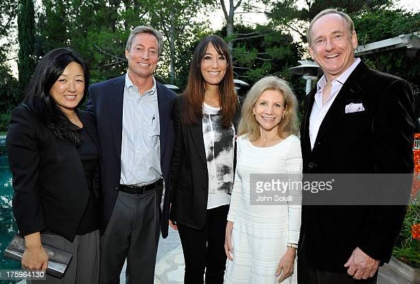Connie Yang Kevin Hanley Bobbie Hanley Jennifer Maguire and Stephen Maguire attend the Los Angeles Confidential and Merrill Lynch Wealth Management...