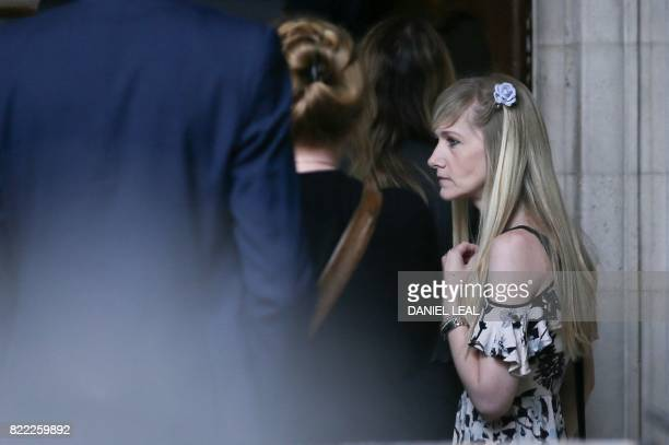 Connie Yates mother of terminallyill 11monthold Charlie Gard arrives at the Royal Courts of Justice in London on July 25 for a hearing the day after...