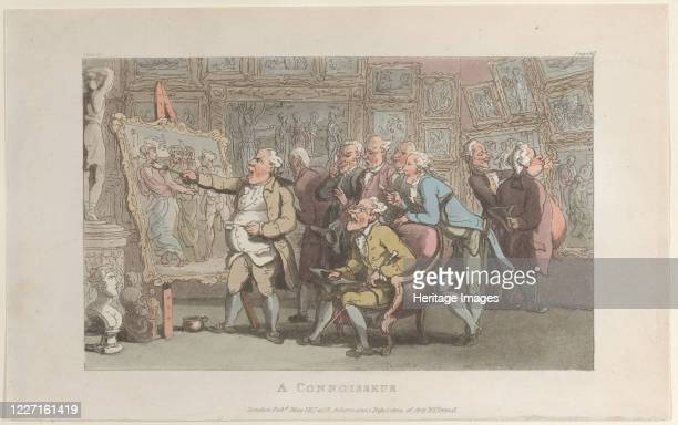 A Connoisseur from The Vicar of Wakefield May 1817 Artist Thomas Rowlandson