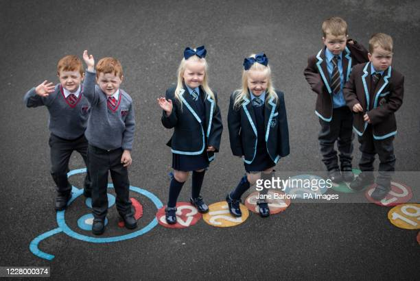 Connor and John Branchfield, Alice and Penny Beer, Ben and Josh Cairns, some of the sets of twins from the Inverclyde area, pose for a photograph at...