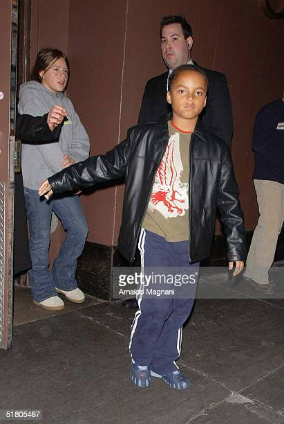 Connor Anthony Kidman Cruise and sister Isabella Jane Kidman Cruise the children of Tom Cruise and Nicole Kidman exit a midtown restaurant after...