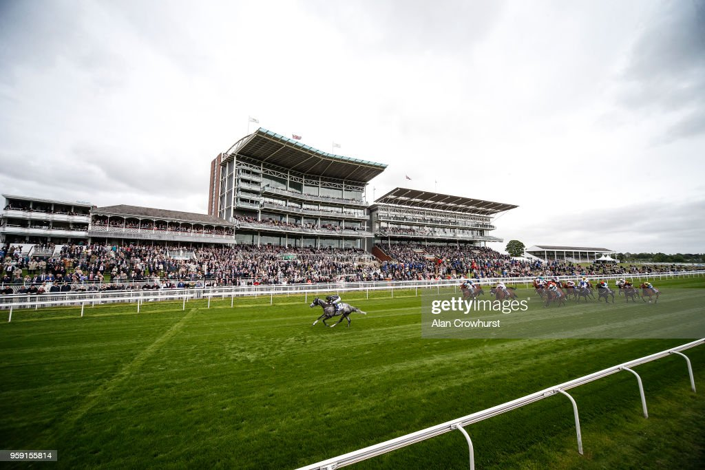 Connor Beasley riding George Bowen easily win The Infinity Tyres Stakes at York Racecourse on May 16, 2018 in York, United Kingdom.