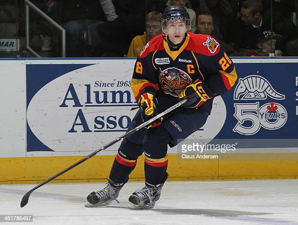 Connor Brown of the Erie Otters skates against the London Knights in an OHL game at the Budweiser Gardens on November 22 2013 in London Ontario...