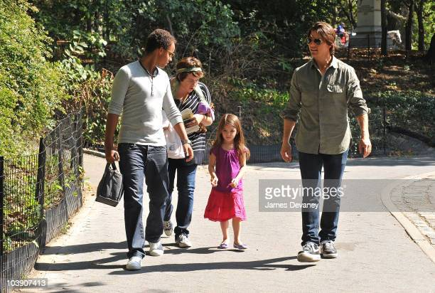 Connor Cruise Isabella Cruise Tom Cruise and Suri Cruise visit a Central Park West playground on September 7 2010 in New York City
