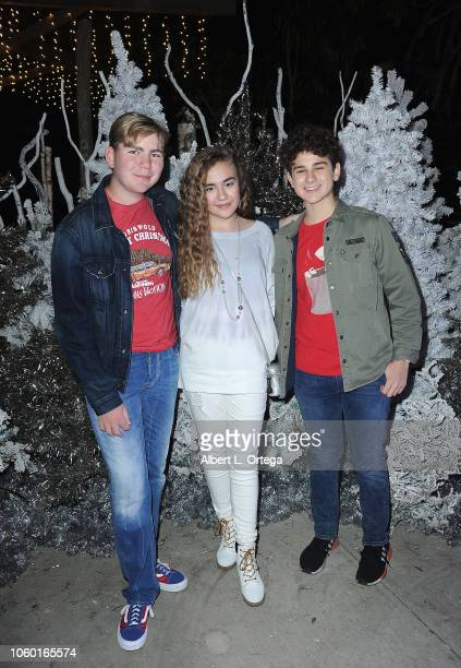 Connor Dean Alyssa de Boisblanc and Jax Malcolm attends the LA Zoo Lights Special Preview/VIP Night held at Los Angeles Zoo on November 10 2018 in...
