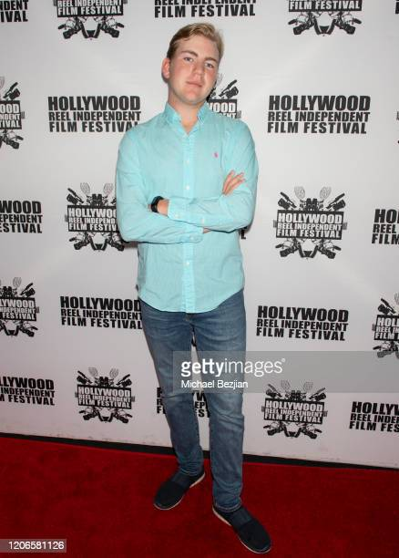 Connor Dean arrives at A Dark Foe Film Premiere on February 15 2020 in Los Angeles California