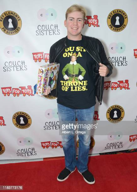 Connor Dean attends The Couch Sisters 1st Annual Toys For Tots Toy Drive held onNovember 20 2019 in Glendale California