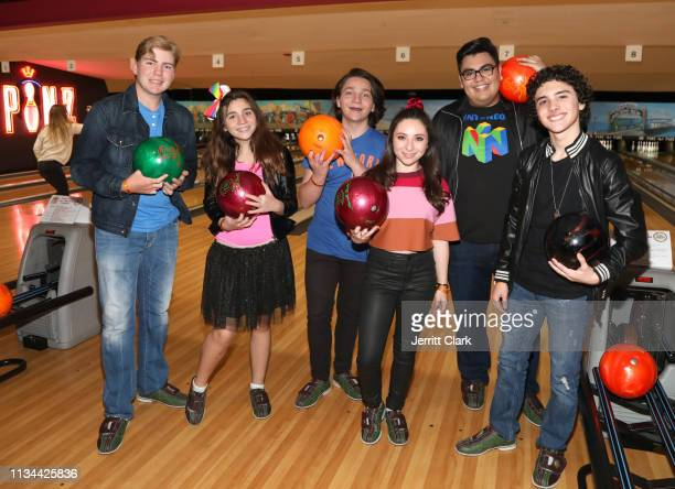 Connor Dean Bryson Robinson Brooklyn Robinson Ava Cantrell SeanRyan Peterson and Hunter Payton attends A Place Called Home's Annual Stars And Strikes...