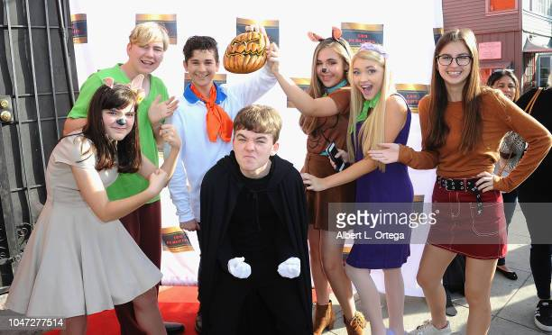 Connor Dean Jax Malcolm Alyssa de Boisblanc Samantha Bailey Izzy LaBelle and Benjamin Stockman arrive for Jax Malcolm's 3rd Annual #ActionJax Movie...