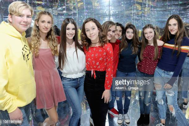 Connor Dean Trinity Rose Britten Healey Kacey Fifield Alyssa de Boisblanc Hunter Payton Samantha Gangal Alexa Ray and Pilot PaisleyRose attend the...