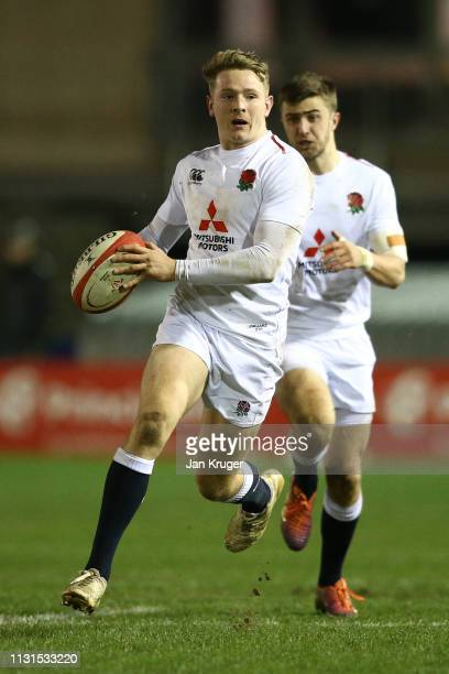 Connor Doherty of England during the Wales U20 v England U20 match in the Under 20 Six Nations Championships at ZipWorld Stadium on February 22 2019...