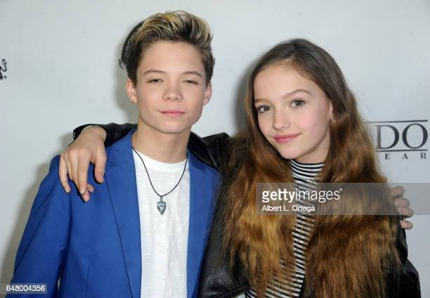 Connor Finnerty and Jayden Bartels attend Talin Silva's EP Release Party And Concert held at Busby's East on March 3 2017 in Los Angeles California