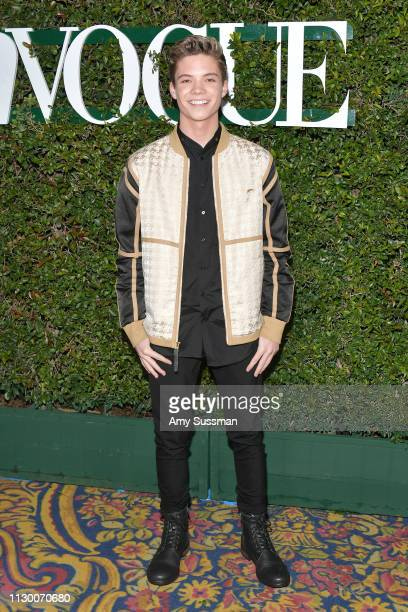 Connor Finnerty attends Teen Vogue's 2019 Young Hollywood Party Presented By Snap at Los Angeles Theatre on February 15 2019 in Los Angeles California