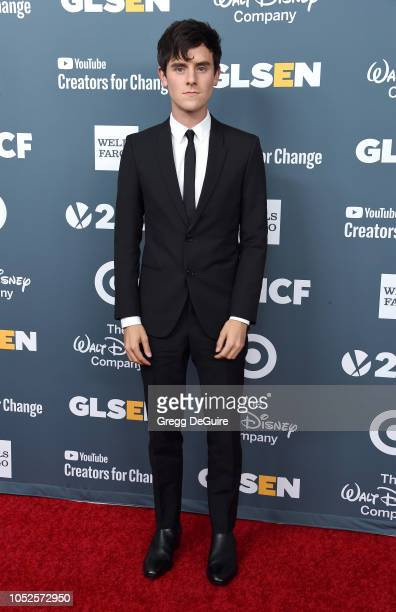 Connor Franta arrives at the GLSEN Respect Awards at the Beverly Wilshire Four Seasons Hotel on October 19 2018 in Beverly Hills California