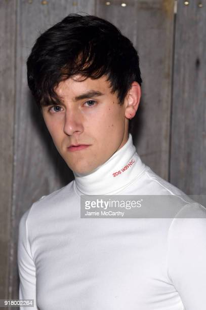 Connor Franta attends the Calvin Klein Collection during New York Fashion Week at New York Stock Exchange on February 13 2018 in New York City