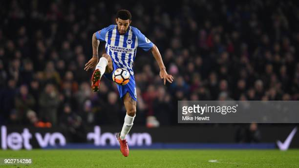 Connor Goldson of Brighton in action during The Emirates FA Cup Third Round match between Brighton & Hove Albion and Crystal Palace at Amex Stadium...