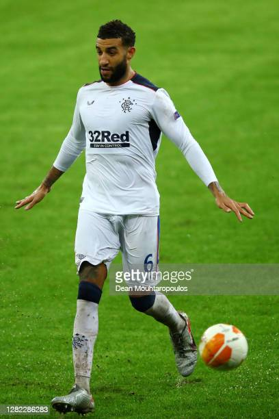 Connor Goldson of Rangers FC in action during the UEFA Europa League Group D stage match between Standard Liege and Rangers at Stade Maurice Dufrasne...