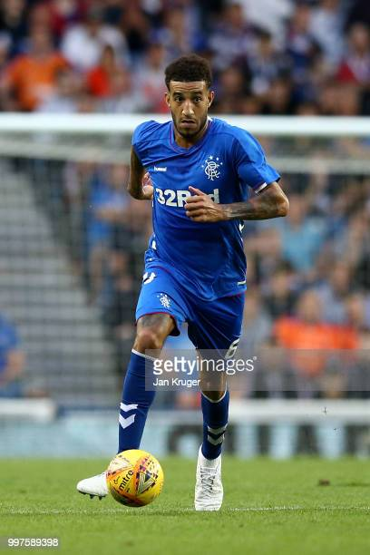 Connor Goldson of Rangers in action during the UEFA Europa League Qualifying Round match between Rangers and Shkupi at Ibrox Stadium on July 12 2018...